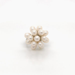 White Pearl Bouquet Ring