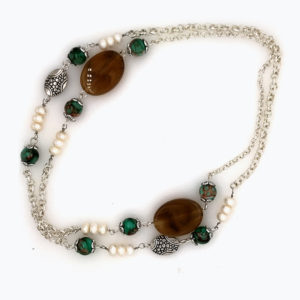 Hyacinth Long Pearl Necklace