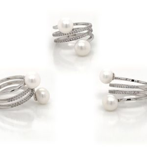 White Infinity Pearl Ring