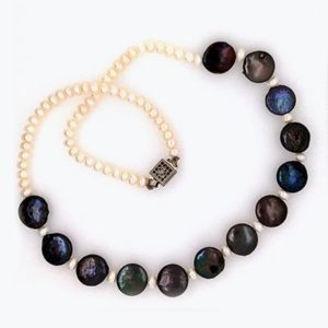Black Coin Jane Necklace